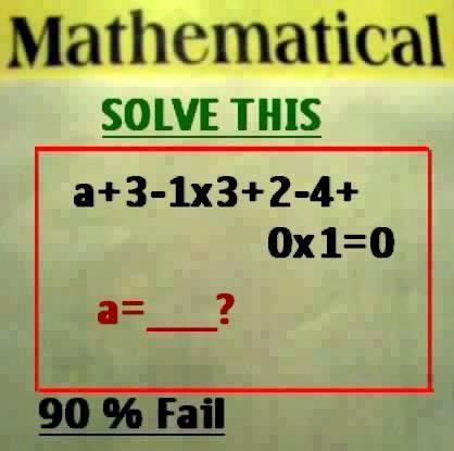 Solve Maths Equation Problem